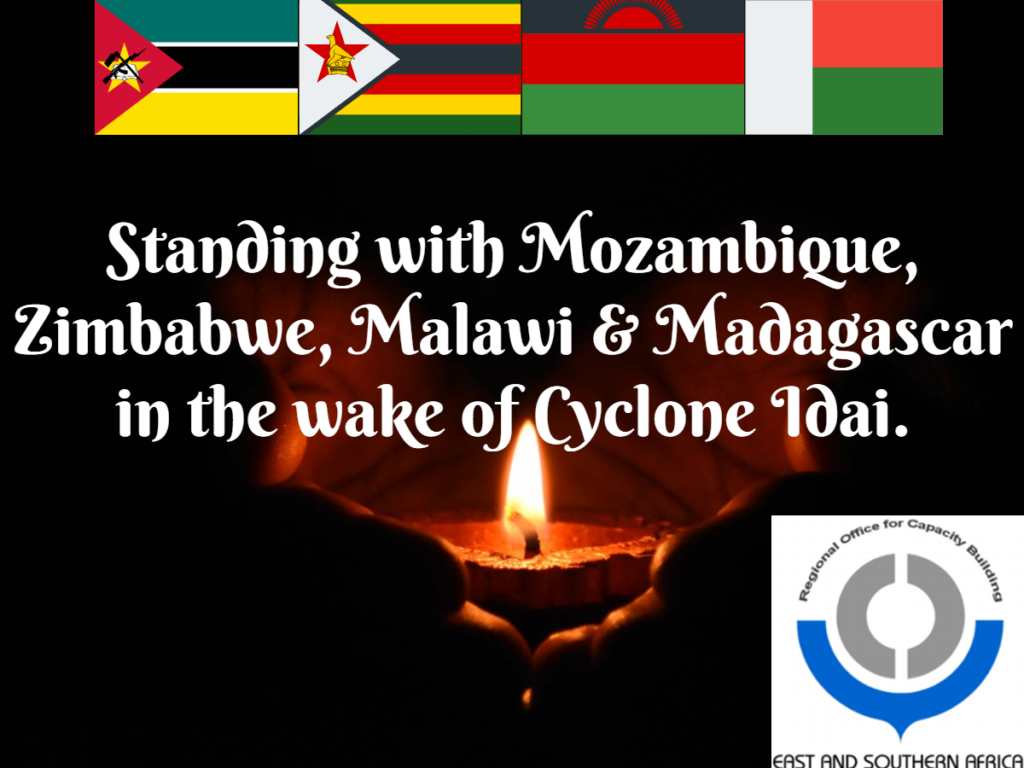 Standing with Mozambique, Zimbabwe, Malawi, Madagascar and the rest of Southern Africa in the wake of Cyclone Idai.