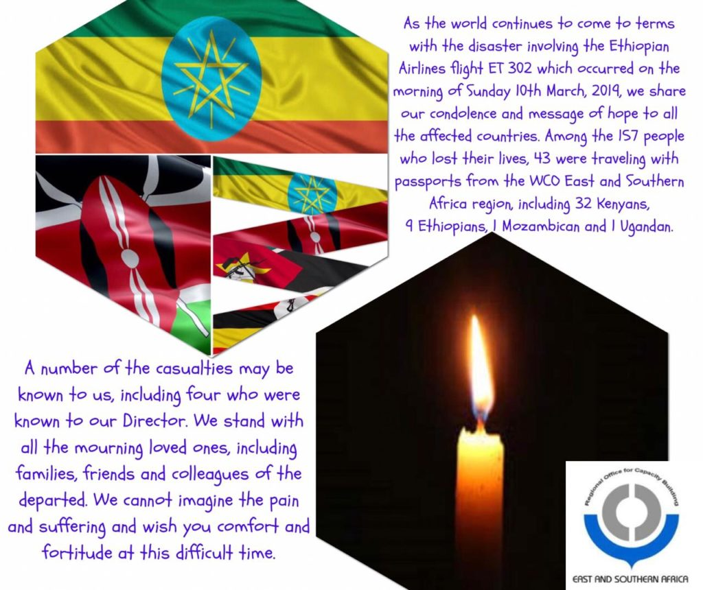 WCO ESA ROCB mourns Ethiopian Airlines flight ET 302 victims