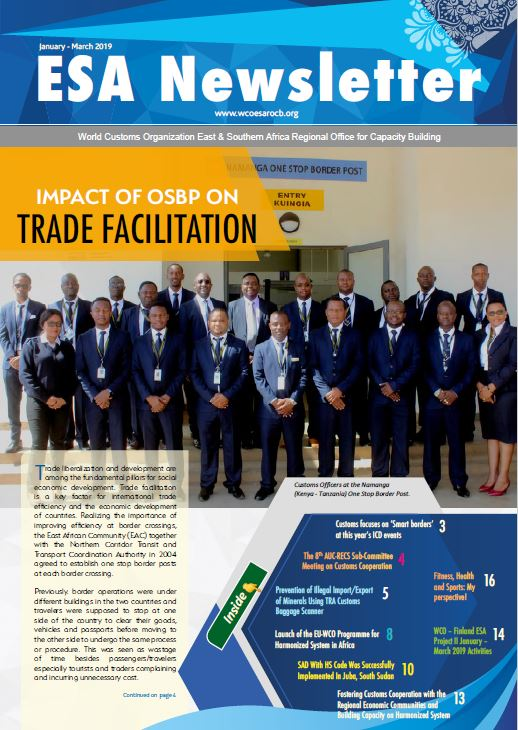 WCO ESA Newsletter January – March 2019 Edition