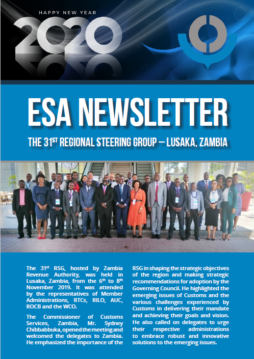 WCO ESA Newsletter October – December 2019 Edition