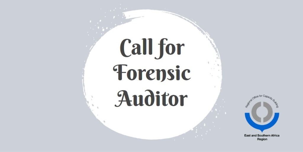Call for Forensic Auditor