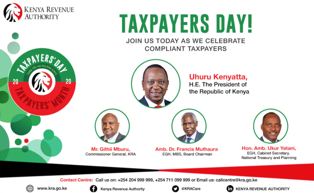 Kenya Revenue Authority Tax payers Day